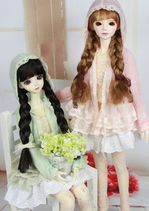 [SD9,13 Girl/GR] Lace Cardigan(pink,mint)